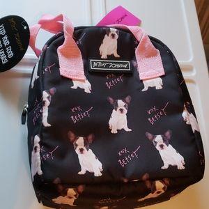 NWT - Betsey Johnson French Bulldog Lunch Bag